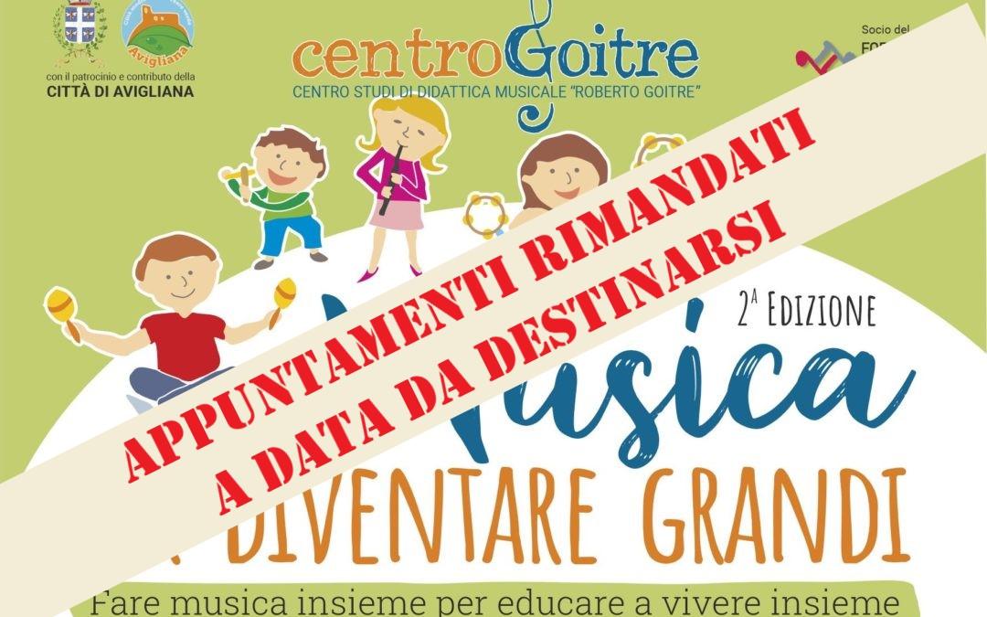 """Ritorna """"Musica per Diventare Grandi"""" con la seconda edizione dedicata a """"Fare musica insieme per educare a vivere insieme"""""""