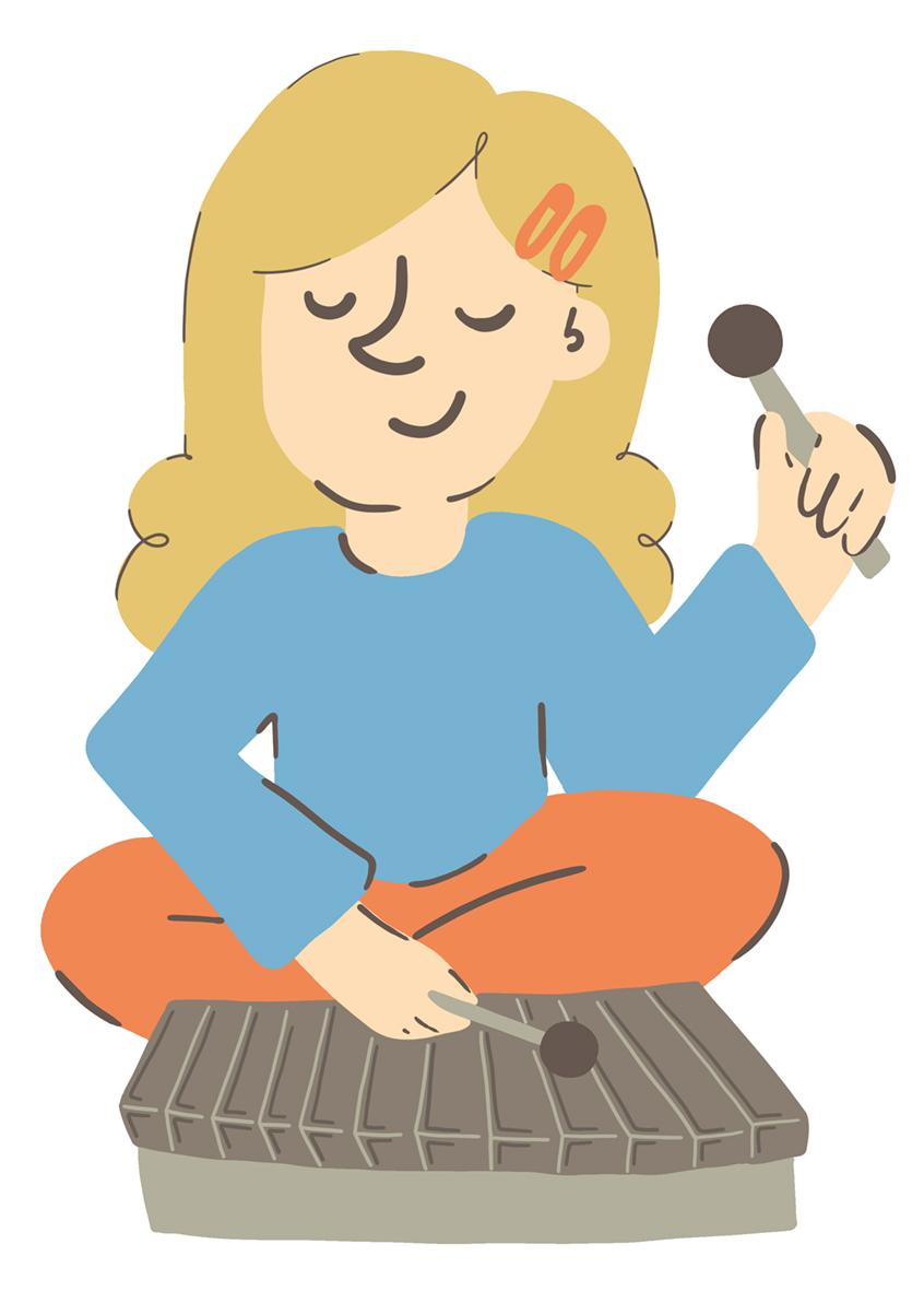 ragazza xilofono